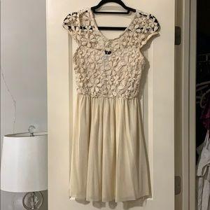 Rue 21 Cream Dress Size S
